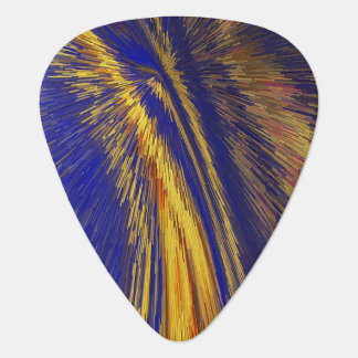 Blue and Gold Speed of Light Guitar Pick
