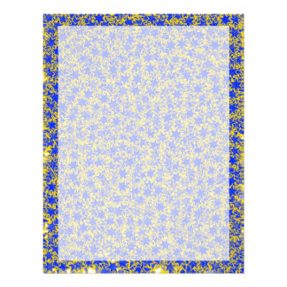 Blue and Gold Star Team Spirit Sports Colors 21.5 Cm X 28 Cm Flyer
