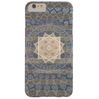 Blue and Gold Tribal Sun Leaf Pattern Striped Barely There iPhone 6 Plus Case