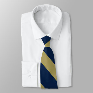 Blue and Gold University Stripe Tie