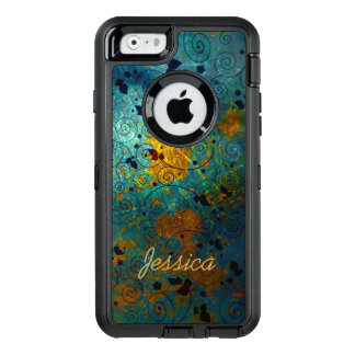 Blue and Gold Vine OtterBox iPhone 6/6s Case