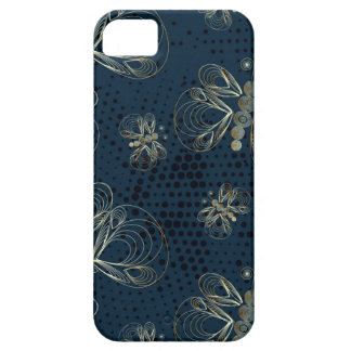 Blue and golden butterflies retro design case for the iPhone 5