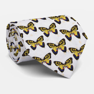 Blue and Golden Butterflies Tie
