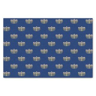 Blue and Golden Hanukkah Menorah Tissue Paper