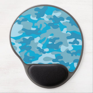 Blue and Gray Camo Design Gel Mouse Pad