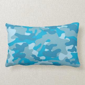 Blue and Gray Camo Design Lumbar Cushion