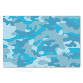 Blue and Gray Camo Design Tissue Paper