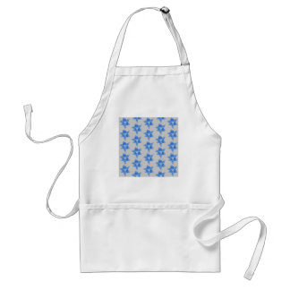 Blue and gray floral pattern. standard apron