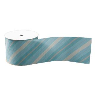 Blue and Gray Striped Ribbon Grosgrain Ribbon