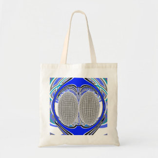 Blue and gray superfly design canvas bags
