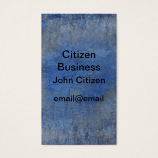 Blue and gray textured bark business card