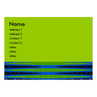 blue and green abstract business card templates