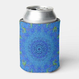 Blue and green abstract design can cooler