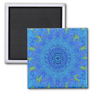 Blue and green abstract design magnet