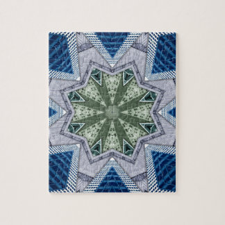 Blue And Green Abstract Jigsaw Puzzle