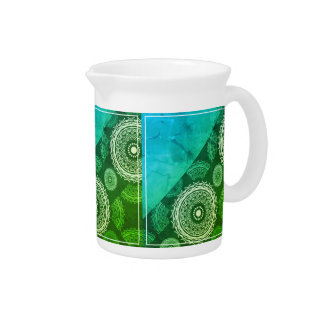 Blue And Green Abstract Pitcher