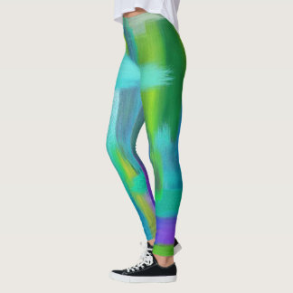 Blue and Green Abstract PJ Leggings