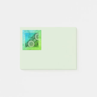 Blue And Green Abstract Post-it Notes