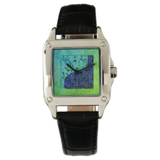 Blue And Green Abstract Watch