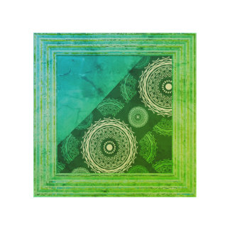 Blue And Green Abstract Wood Wall Art