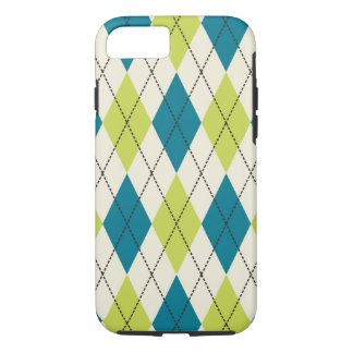Blue And Green Argyle iPhone 7 Case