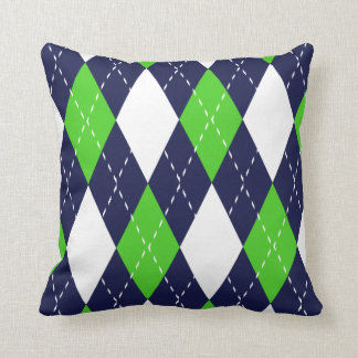 Blue and Green Argyle Pattern Pillows