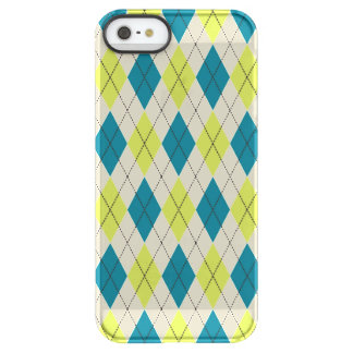 Blue And Green Argyle Permafrost® iPhone SE/5/5s Case