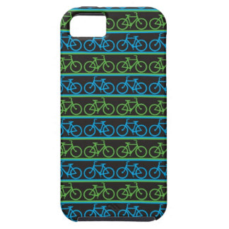 Blue and green Bike Bicycle pattern iPhone 5 Covers
