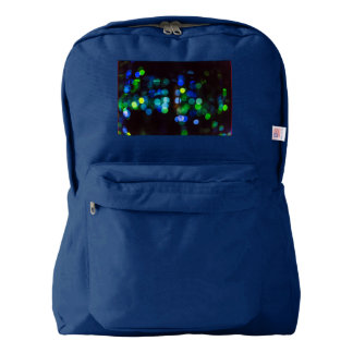 Blue and Green Bokeh Backpack - American Apparel
