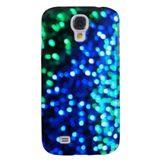 Blue and Green Bokeh Lights Galaxy S4 Cases