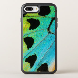 blue and green butterfly wing OtterBox symmetry iPhone 8 plus/7 plus case
