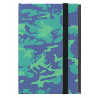 Blue and Green Camo iPad Mini Case