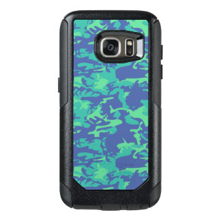 Blue and Green Camo OtterBox Samsung Galaxy S7 Case