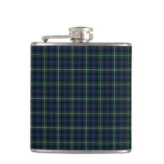 Blue and Green Campbell of Argyll Scottish Plaid Hip Flask