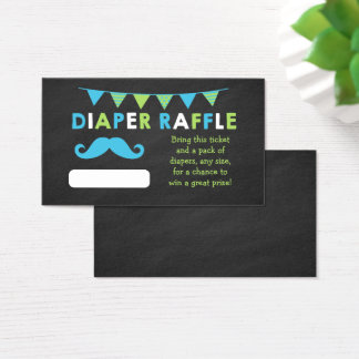 Blue and Green Chalkboard Diaper Raffle Tickets