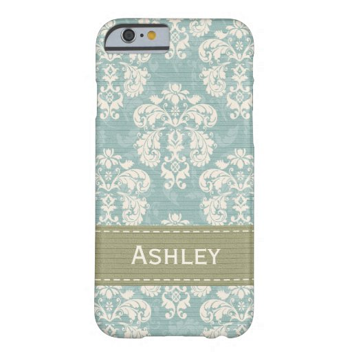 Blue and Green Damask iPhone 6 Case