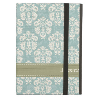 Blue and Green Damask Cover For iPad Air