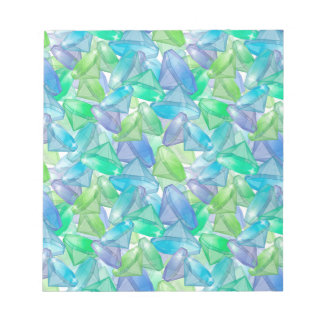 Blue and green diamonds notepad