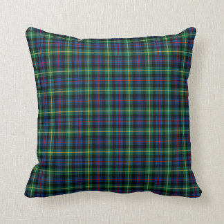 Blue and Green Farquharson Clan Scottish Plaid Cushion