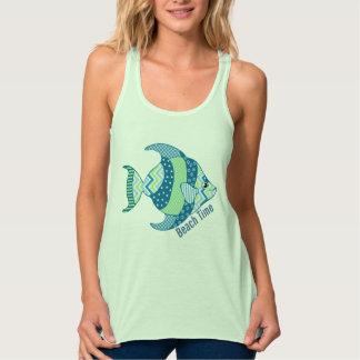Blue and Green Fish Tank Tee Shirt