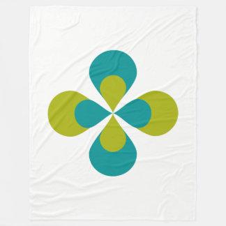 Blue and Green Floral Fleece Blanket
