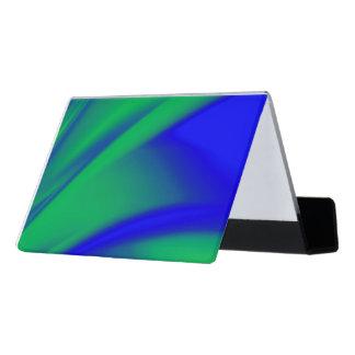 Blue and Green Flush Desk Business Card Holder