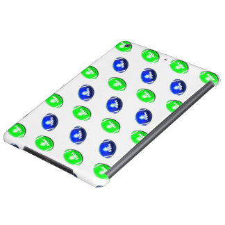 Blue and Green Football Pattern iPad Air Cases