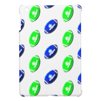 Blue and Green Football Pattern Case For The iPad Mini
