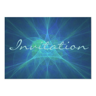 Blue And green fractal Card