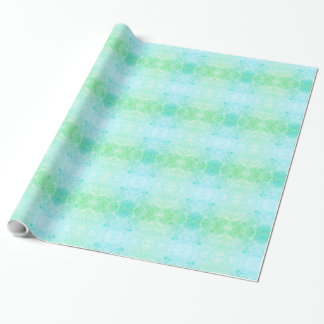 Blue and green frosted design wrapping paper