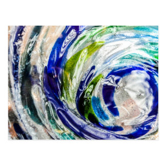 Blue and Green Glass Swirl Photographic Postcard 1