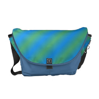 Blue And Green Gradient Commuter Bags