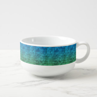 Blue And Green Gradient Soup Mug