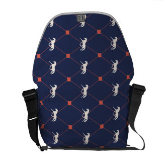 Blue and Green Harleqiun Trotting Horse Pattern Commuter Bag